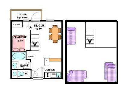 Location au ski Appartement 2 pièces mezzanine 6 personnes (31) - Résidence le Petit Mont Cenis - Termignon-la-Vanoise