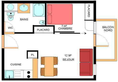 Alquiler al esquí Apartamento 2 piezas para 4 personas (9) - Résidence le Petit Mont Cenis - Termignon-la-Vanoise