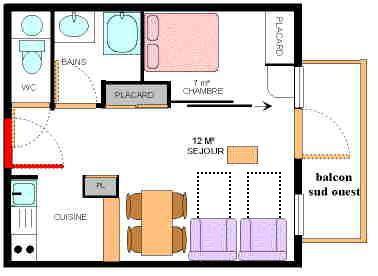 Location au ski Appartement 2 pièces 4 personnes (13) - Residence Le Petit Mont Cenis - Termignon-la-Vanoise