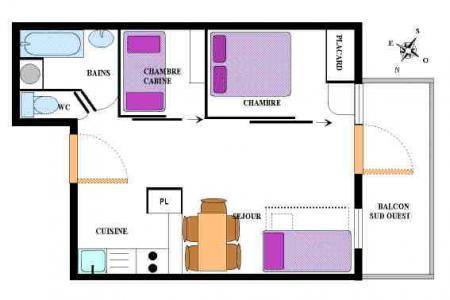 Location au ski Appartement 2 pièces coin montagne 6 personnes (19) - Residence Le Petit Mont Cenis - Termignon-la-Vanoise