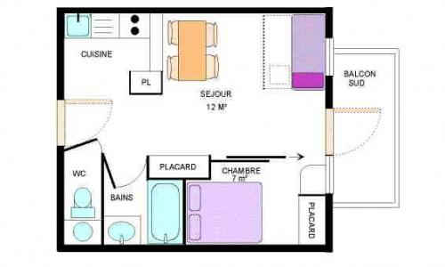 Location au ski Appartement 2 pièces 4 personnes (22) - Residence Le Petit Mont Cenis - Termignon-la-Vanoise