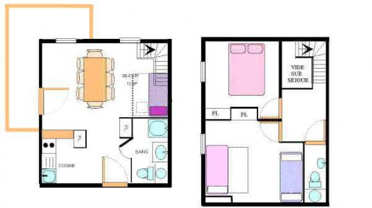 Location au ski Appartement duplex 3 pièces 8 personnes (30) - Résidence le Petit Mont Cenis - Termignon-la-Vanoise - Plan