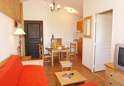 Location au ski Residence Les Chalets D'evian - Thollon les Memises - Canapé
