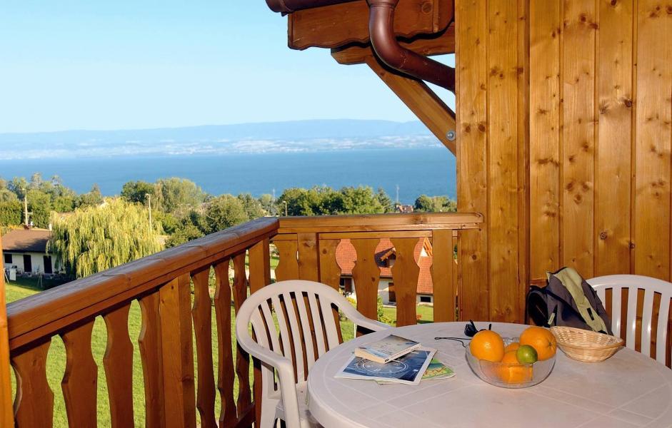 Skiverleih Résidence les Chalets d'Evian - Thollon les Mémises - Balkon