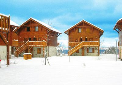Location au ski Residence Les Chalets D'evian - Thollon les Memises - Extérieur hiver