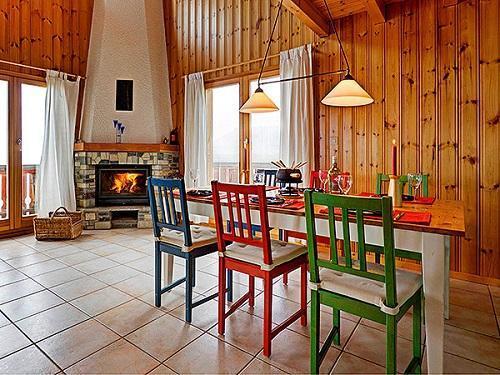 Location au ski Chalet duplex 4 pièces 6 personnes - Chalet Krokus - Thyon - Coin repas