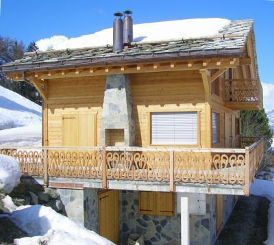 Location au ski Chalet 6 pièces 12 personnes - Chalet Perle Des Collons - Thyon - Extérieur hiver