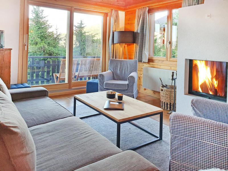 Rent in ski resort Chalet Altitude 1900 - Thyon - Living room