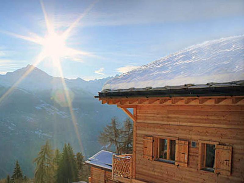 Location au ski Chalet Aurore - Thyon - Extérieur hiver