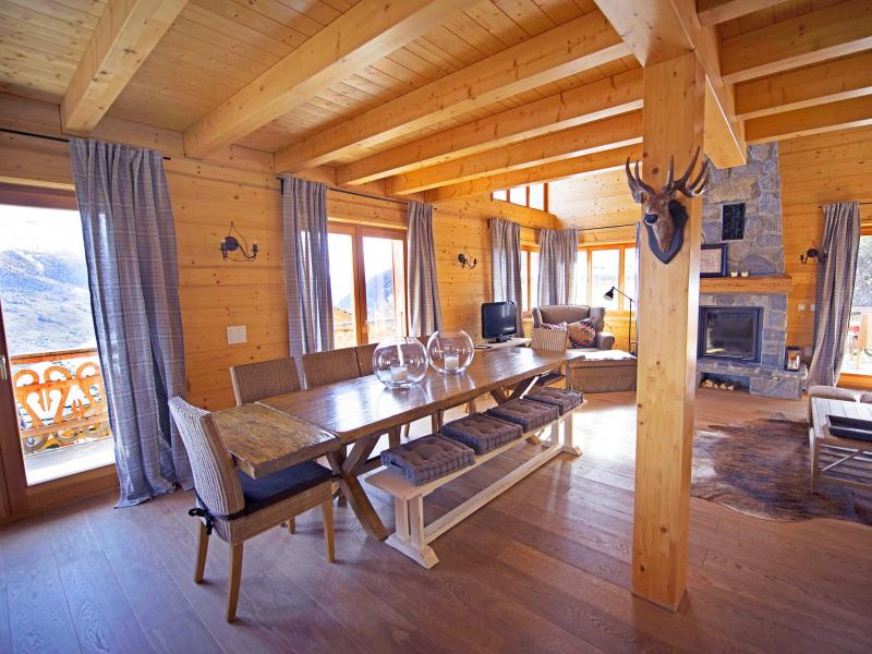 Rent in ski resort Chalet Aurore - Thyon - Dining area