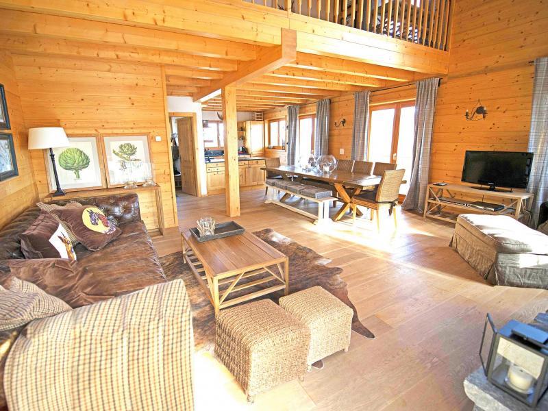 Rent in ski resort Chalet Aurore - Thyon - Living room
