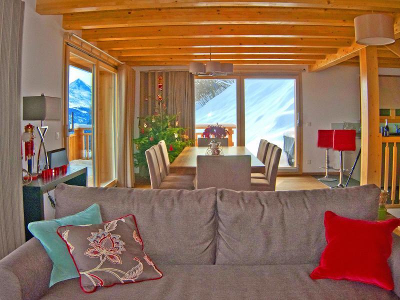 Location au ski Chalet Brock - Thyon - Canapé
