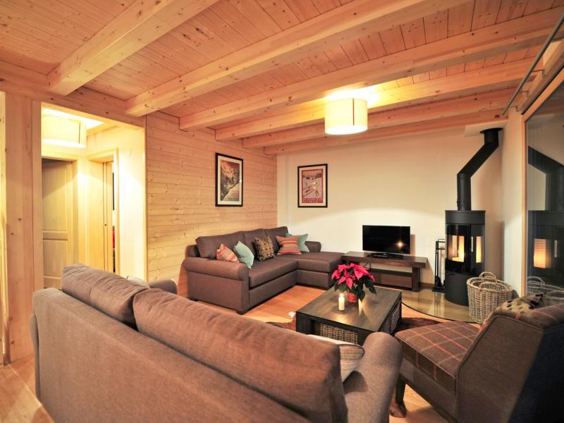 Rent in ski resort Chalet Brock - Thyon - Living room