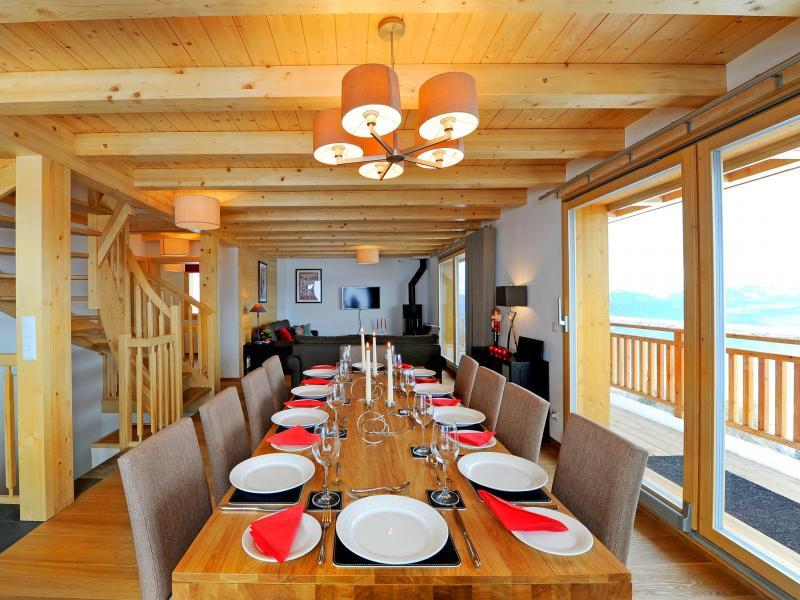 Location au ski Chalet Brock - Thyon - Salle à manger