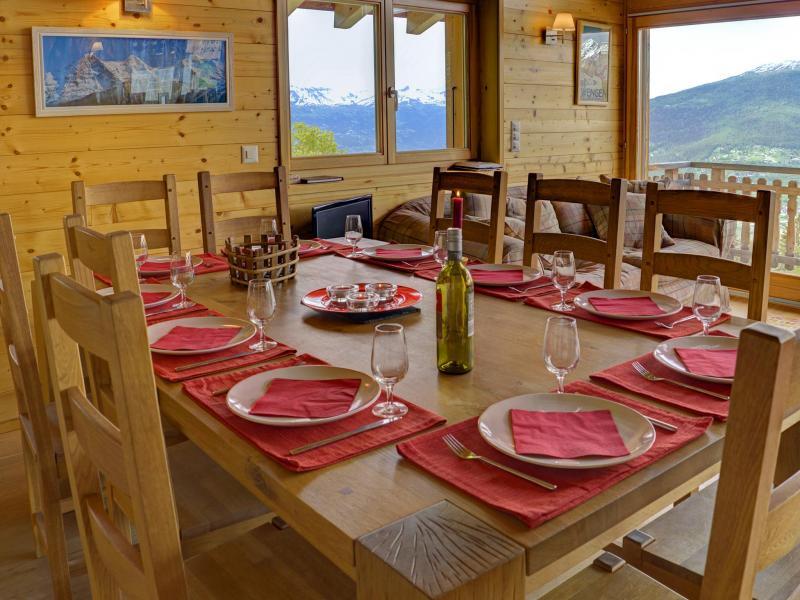 Rent in ski resort Chalet Bryher - Thyon - Dining area