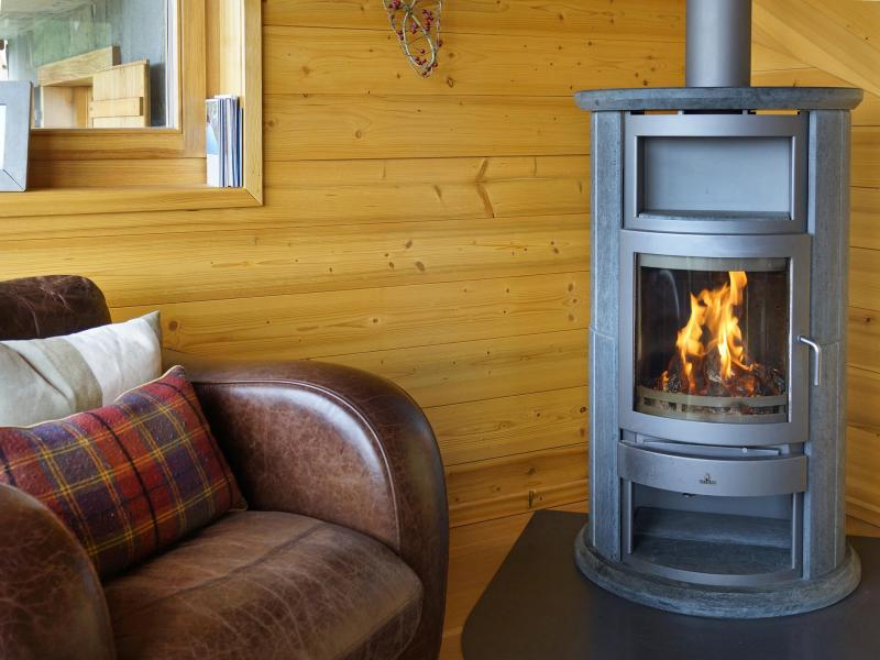 Location au ski Chalet Bryher - Thyon - Poêle à bois