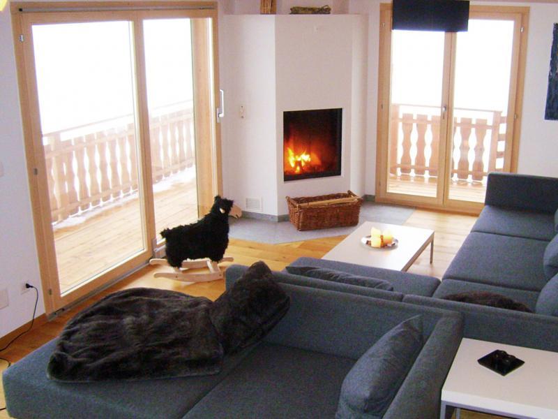 Location au ski Chalet Céline - Thyon - Séjour