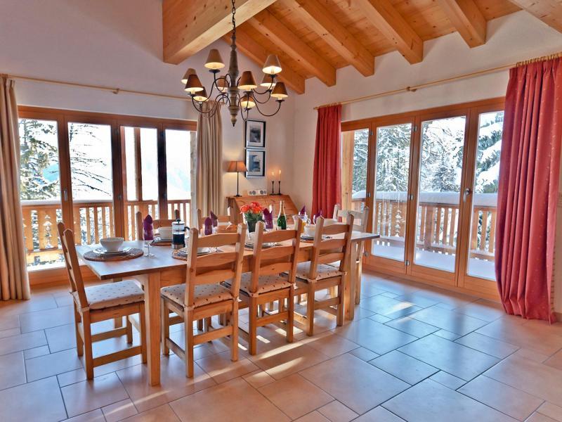 Location au ski Chalet Collons 1850 - Thyon - Salle à manger