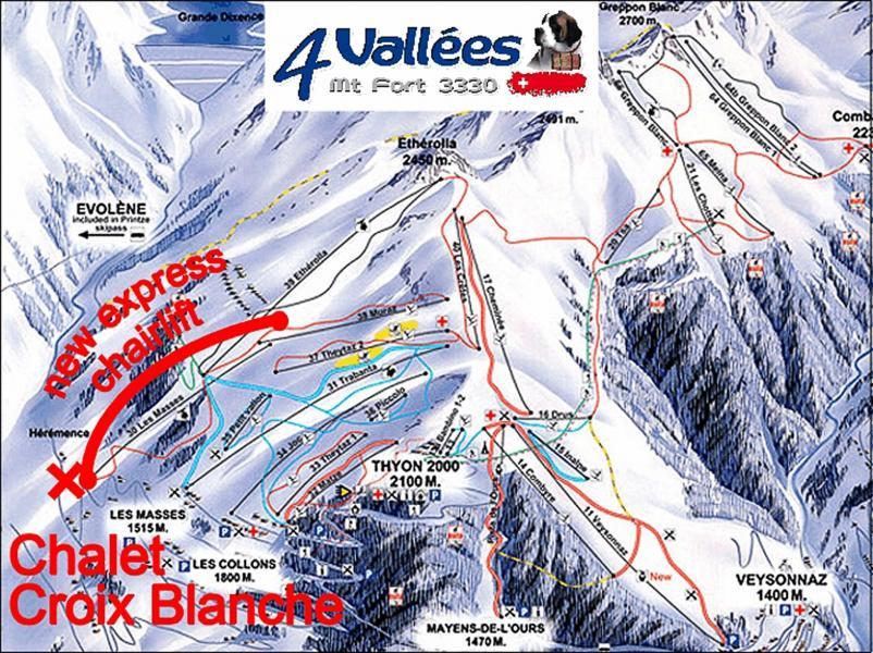 Location au ski Chalet Croix Blanche - Thyon - Plan