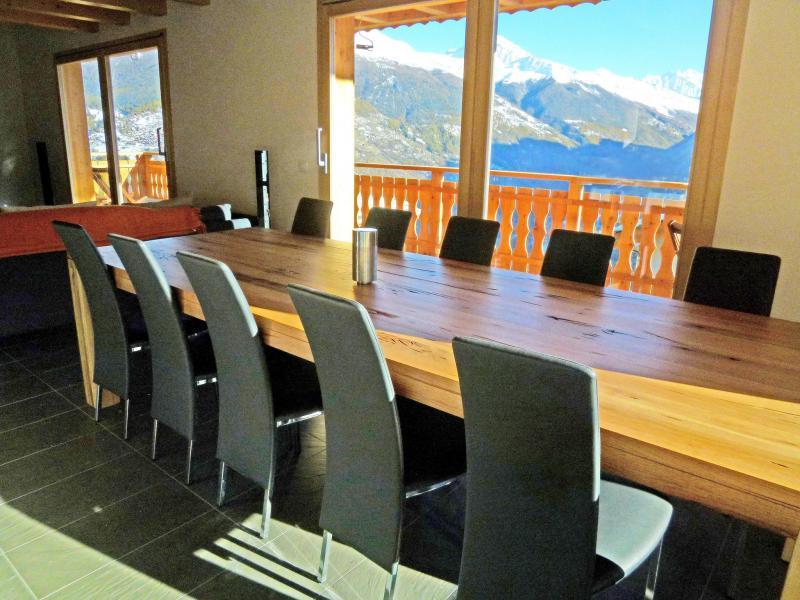 Location au ski Chalet Croix Blanche - Thyon - Table
