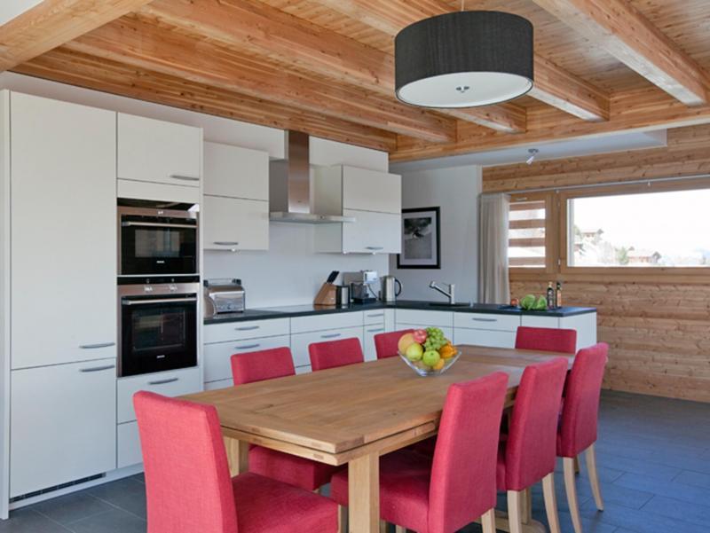 Location au ski Chalet Dargan - Thyon - Cuisine ouverte
