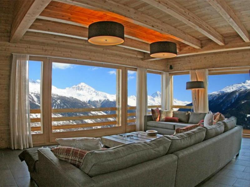 Аренда на лыжном курорте Chalet Dargan - Thyon - Салон