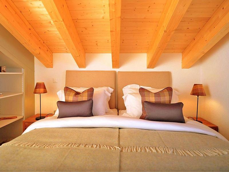 Location au ski Chalet Falcons Nest - Thyon - Chambre mansardée