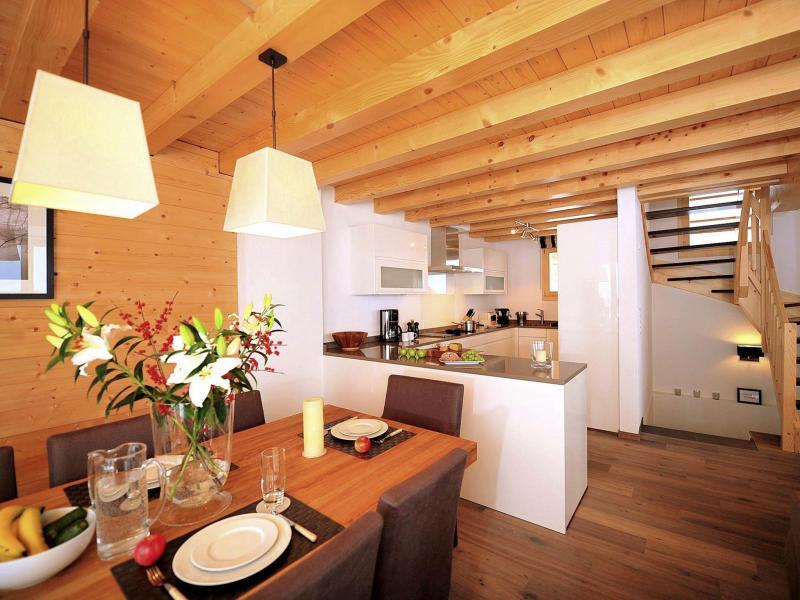 Location au ski Chalet Falcons Nest - Thyon - Cuisine ouverte