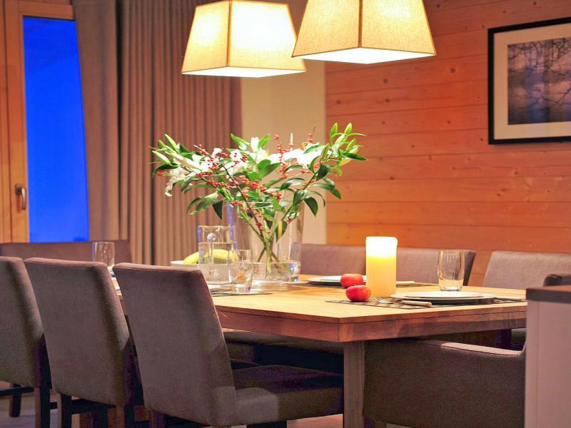 Location au ski Chalet Falcons Nest - Thyon - Salle à manger