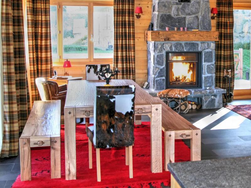 Location au ski Chalet Fleur Des Collons - Thyon - Salle à manger