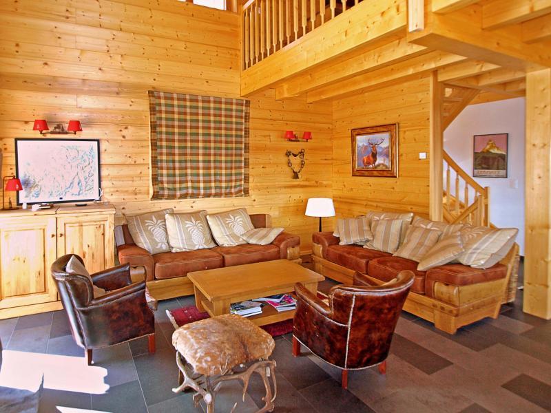 Location au ski Chalet Fleur Des Collons - Thyon - Séjour