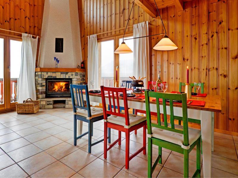 Location au ski Chalet Krokus - Thyon - Salle à manger
