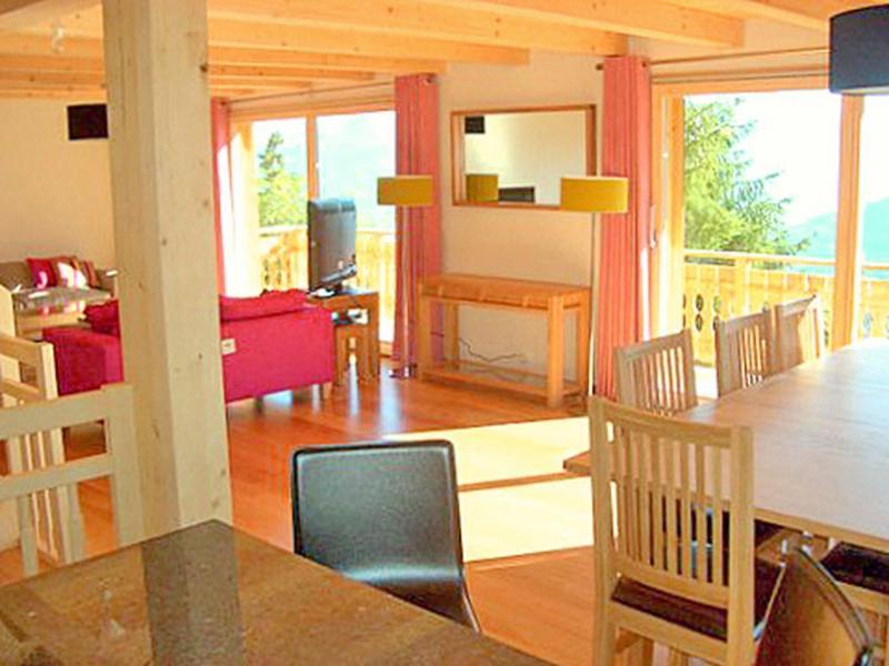 Location au ski Chalet Marguerite - Thyon - Porte-fenêtre donnant sur balcon