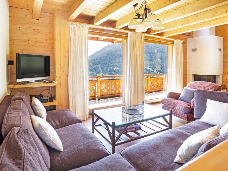 Rent in ski resort Chalet Mountain Star - Thyon - Living room