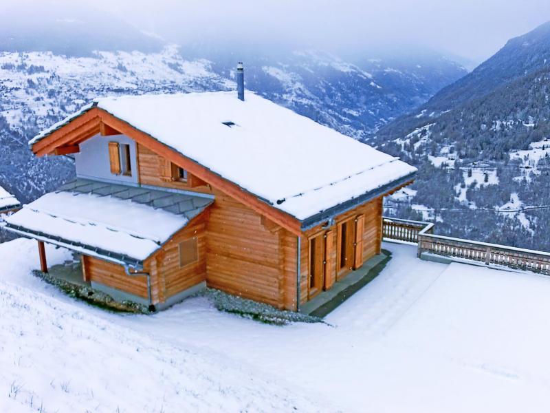 Vacances en montagne Chalet Ourson Blanc - Thyon - Extérieur hiver