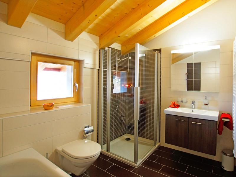 Location au ski Chalet Ourson Blanc - Thyon - Douche