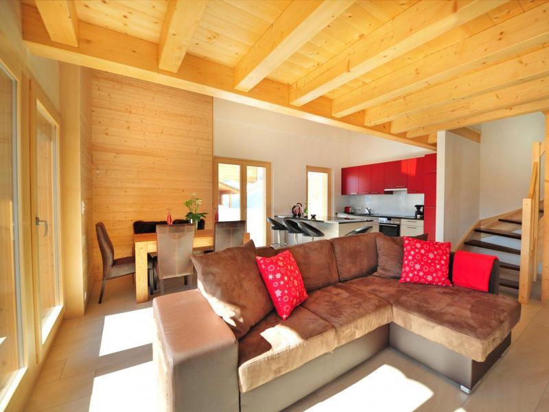 Аренда на лыжном курорте Chalet Ourson Blanc - Thyon - Салон
