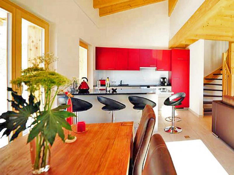 Location au ski Chalet Ourson Blanc - Thyon - Salle à manger