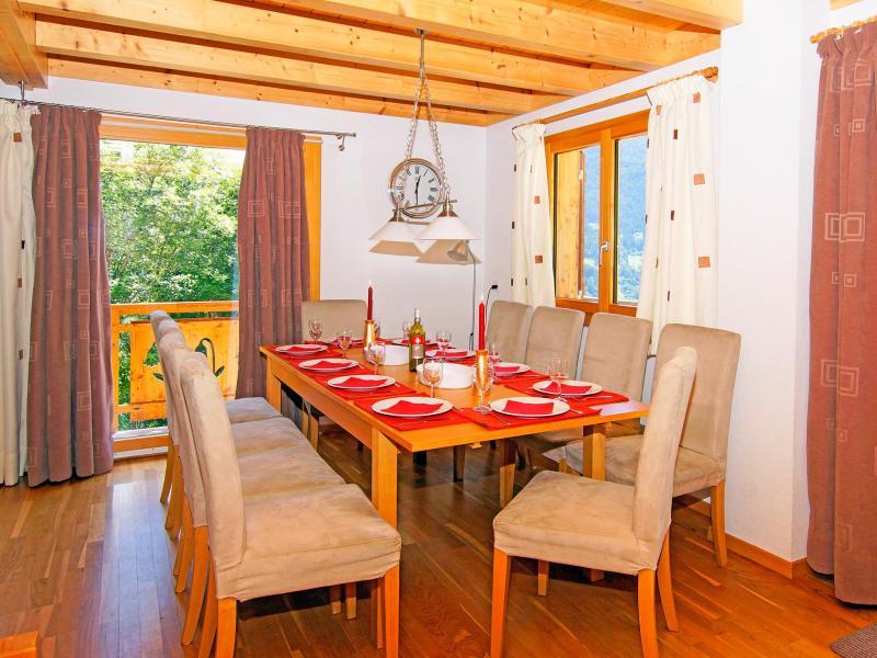 Location au ski Chalet Panorama - Thyon - Salle à manger