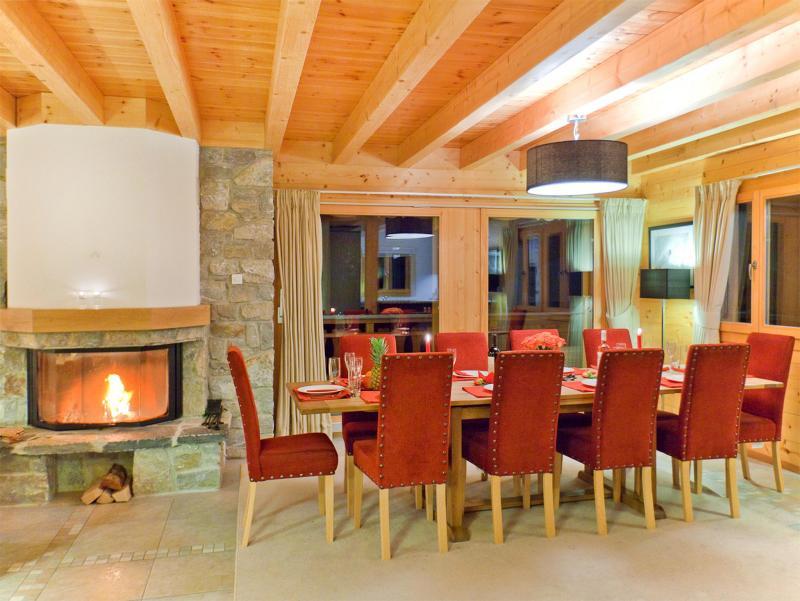 Location au ski Chalet Teychenne - Thyon - Coin repas