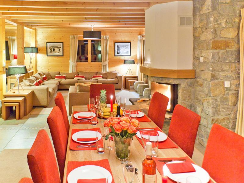 Rent in ski resort Chalet Teychenne - Thyon - Dining area
