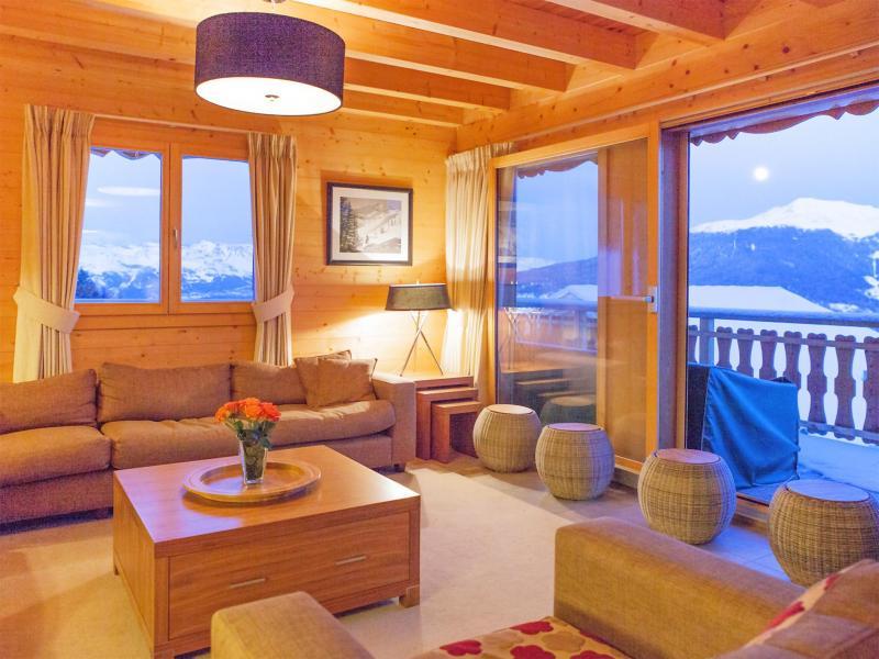 Rent in ski resort Chalet Teychenne - Thyon - Living area