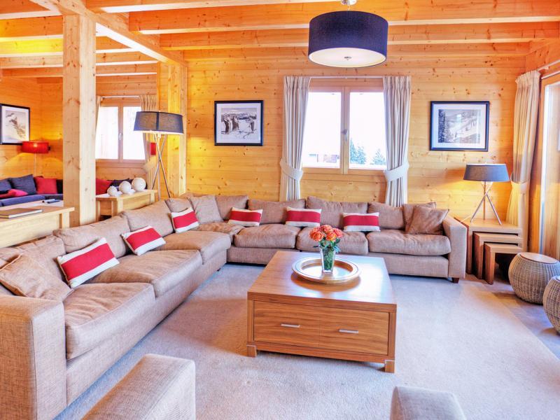 Rent in ski resort Chalet Teychenne - Thyon - Living room