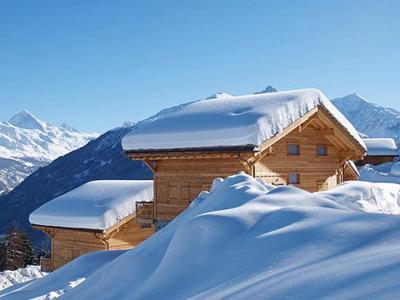 Location au ski Chalet 5 pièces 8 personnes - Chalet Aurore - Thyon - Extérieur hiver