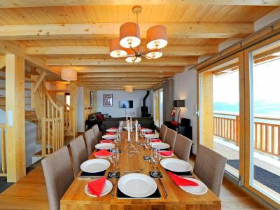 Rent in ski resort Chalet Brock - Thyon - Dining area