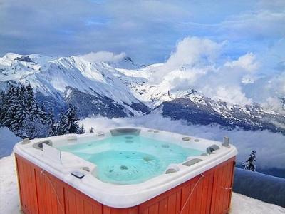 Location au ski Chalet Brock - Thyon - Jacuzzi