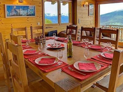 Location au ski Chalet 6 pièces 10 personnes - Chalet Bryher - Thyon - Coin repas
