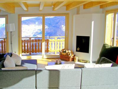 Location au ski Chalet Céline - Thyon - Canapé