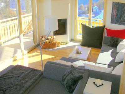 Location au ski Chalet Céline - Thyon - Coin séjour
