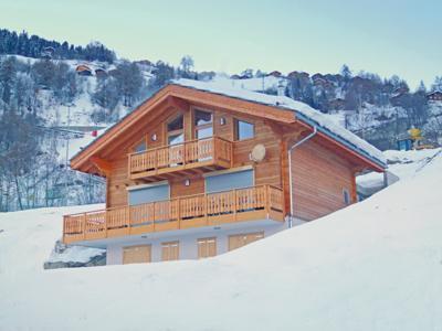 Location au ski Chalet 6 pièces 10 personnes - Chalet Croix Blanche - Thyon - Extérieur hiver